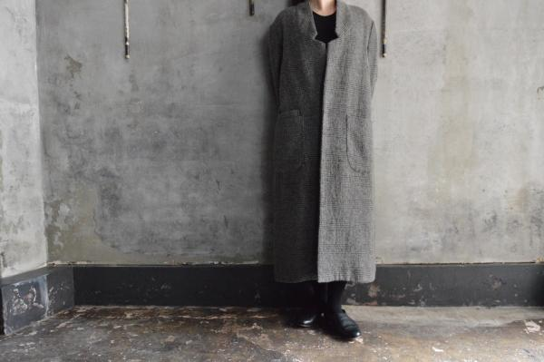 FIR MUM Wool Linen Long Chester Coat
