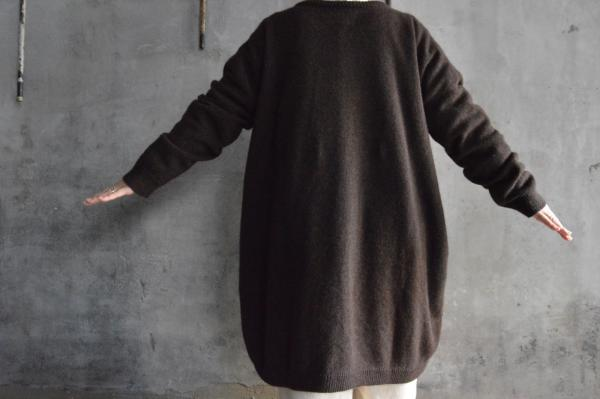 kaval Cashmere Sable Knit Long Cardigan