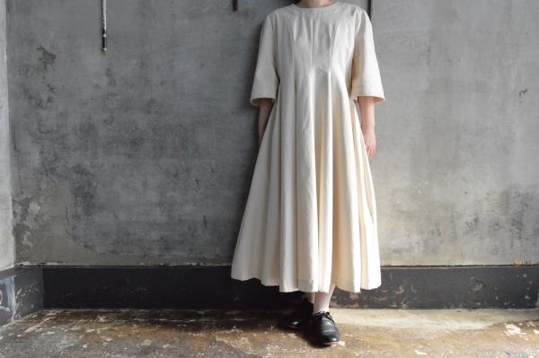 NATIVE VILLAGE Cotton Canvas Onepiece Dress