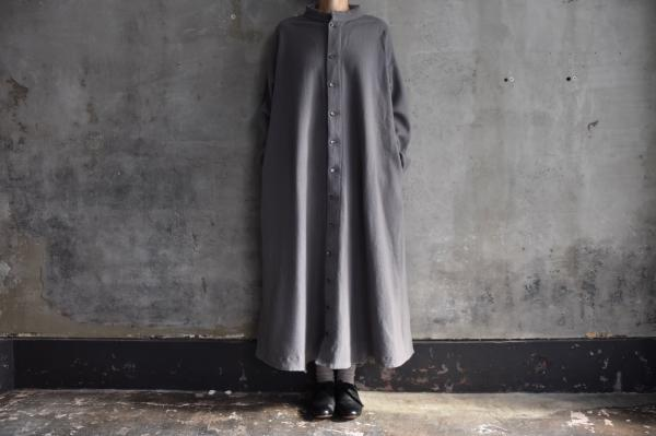 TOKIHO「ANNA-V」Wool Melton Coat Onepiece