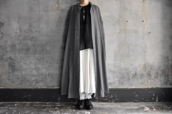 TOKIHO「ANNA-V」Wool Serge Coat Onepiece