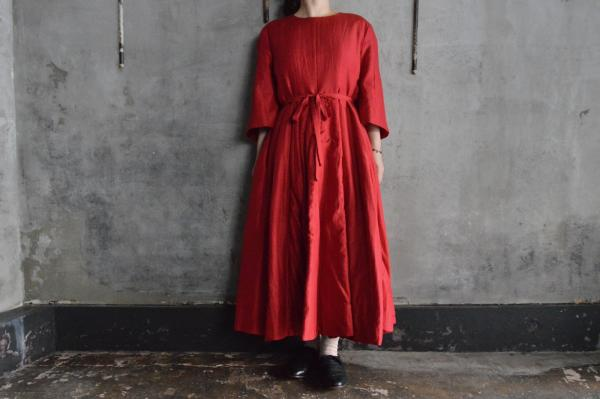 NATIVE VILLAGE「soft」Silk Wool Quilting  Dress