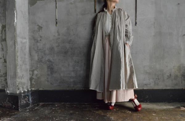 kaval FOR poefu Linen Open Gather Onepiece