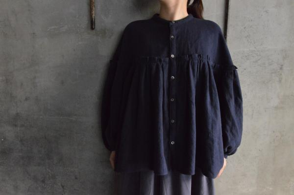 UNIVERSAL TISSU Full Gather Blouse Herringbone