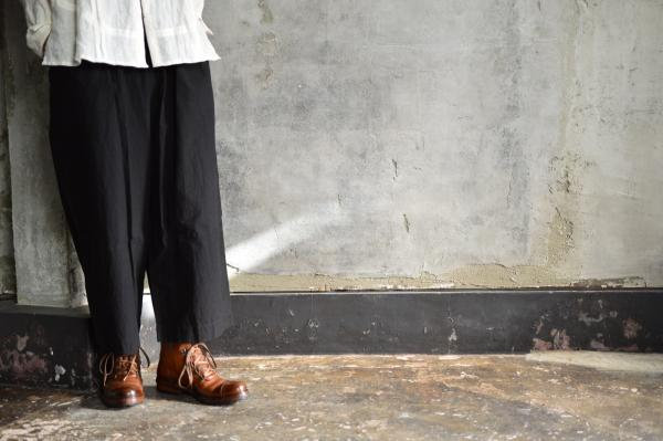 ゴーシュ Typewriter Cloth Wide Pants