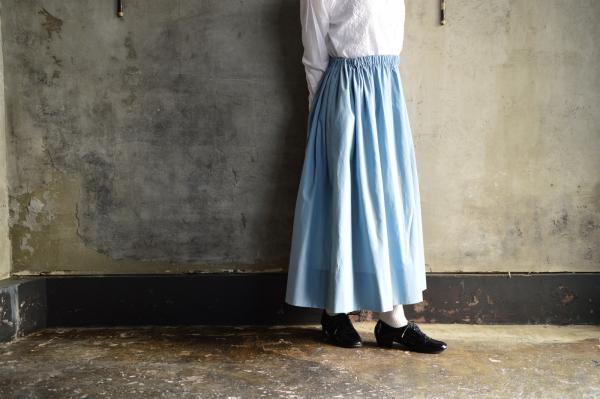 humoresque Top Cotton Twill Gather Skirt