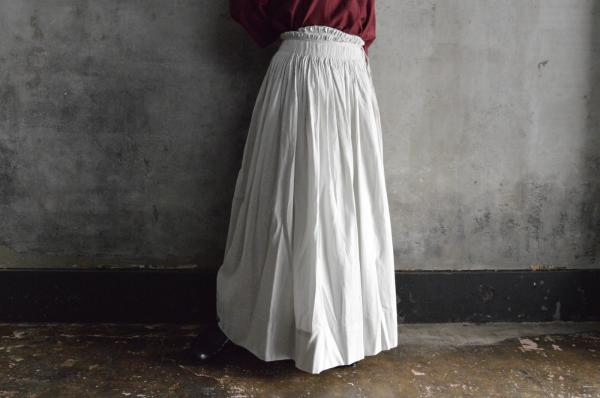 kaval Silk Wool Smocking Skirt 3
