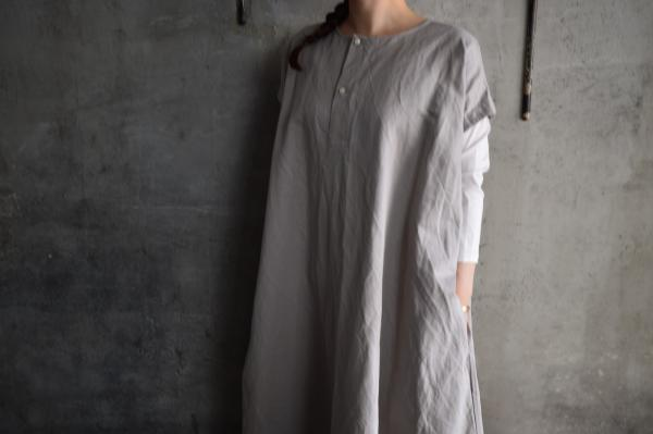 TOKIHO 「SOLO」French Sleeve Linen Cotton Onepiece