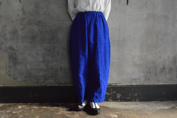 ゴーシュ Cotton Linen Slub「Grotta azzurra」Wide Pants