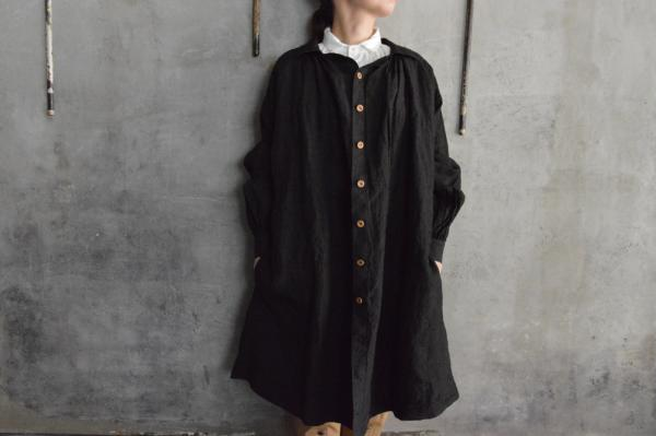 kaval Front Open Smock Coat