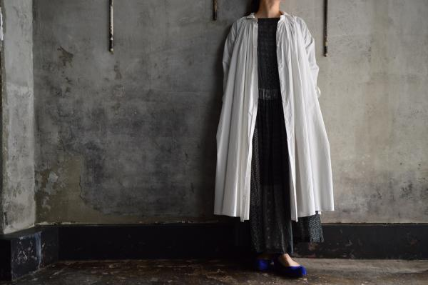 kaval Cotton Typewriter Cloth Open Gather Onepiece