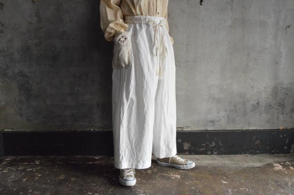 GASA*『マクラメ』Cotton Bamboo Wide Pants