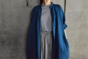 Honnete Irish Linen H/S Gather Onepiece