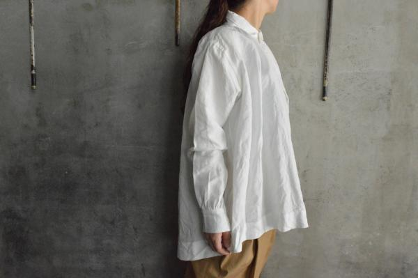 TOKIHO FOR poefu「MOLLY-S-Ⅲ」Linen Pullover Shirt
