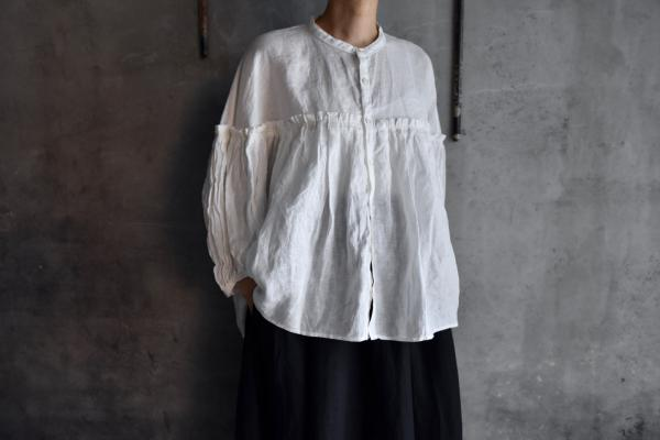 UNIVERSAL TISSU French Linen Full Gather Blouse