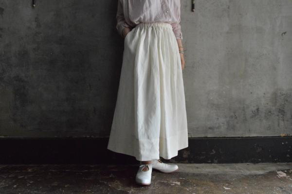 humoresque Rayon Linen Silk Gather Skirt