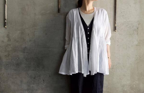 maison de soil Organic Cotton Pintuck Wrap Blouse
