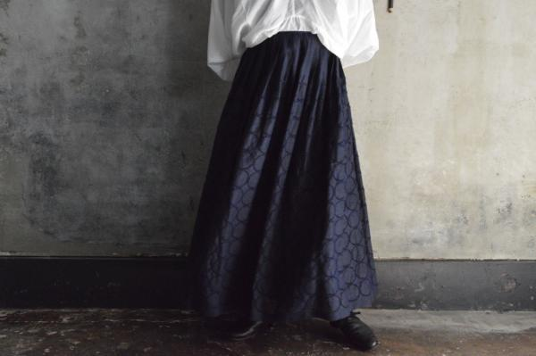 minä perhonen「tambourine」Linen Long Skirt