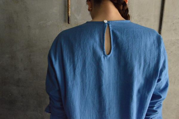 ゴーシュ Organic Cotton Crew Neck Shirt with Pocket