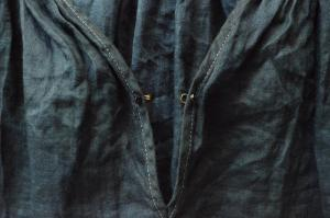 Tabrik Pullover Blouse Mud and Pure Indigo Dyed