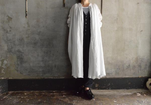 kaval FOR poefu Open Gather Onepiece Linen P-011