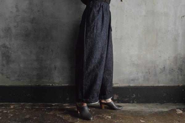 ゴーシュ Cotton Silk Denim Wide Pants