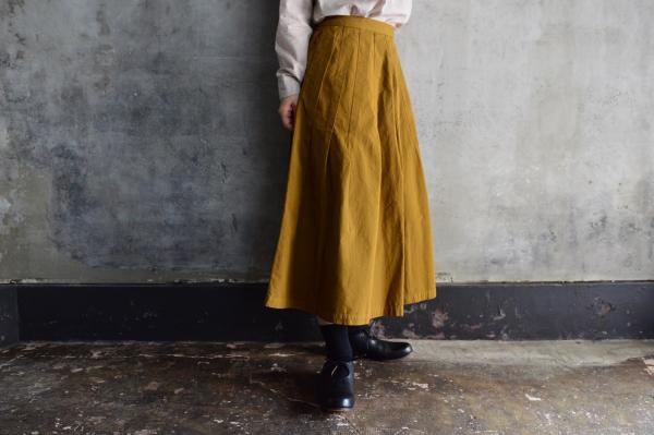 kaval Cotton Dart Stitched Skirt