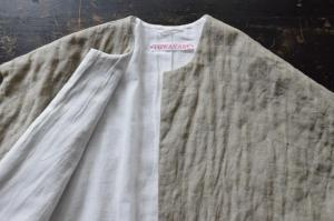 TOWAVASE 「Permanent TOWAVASE」Linen Quilt Robe Coat