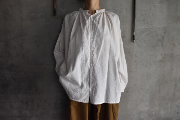 humoresque Silk Cotton Gather Blouse
