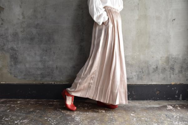 humoresque Silk Satin Gather Skirt