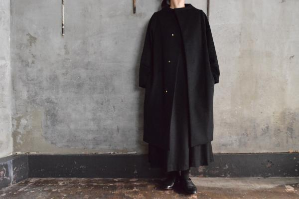 nitca Wool Cashmere Beaver Cloth Cocoon Coat