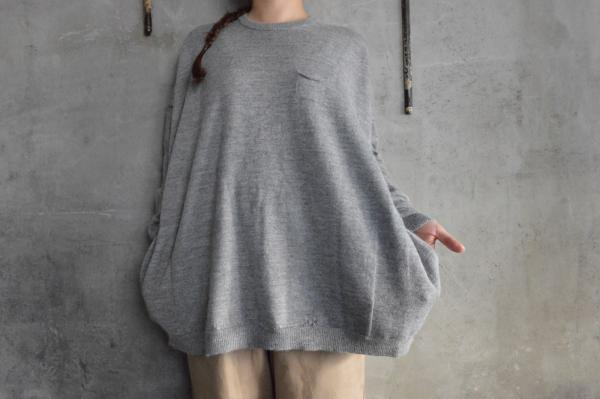 ゴーシュ Baby Alpaca Crew Neck Knit with Pocket