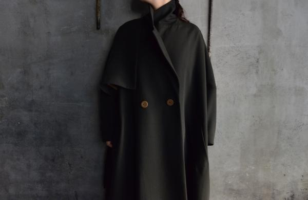 minä perhonen 「voyage」High Twist Wool Coat