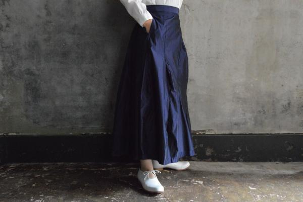 humoresque Silk Polyester Mix Tuck Skirt
