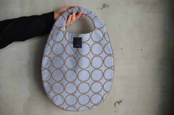 mina perhonen 「tambourine」egg bag-cotton satin