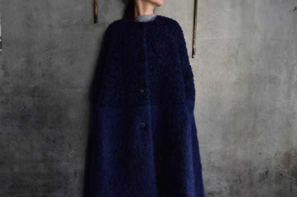 minä perhonen 「sweet sheep」No Collar Coat